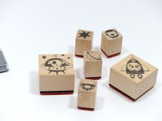 Stempel - Stempelset Stempel Astronauten - ein Designerstück von Frau_Zwerg bei DaWanda