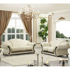 Best Top 30 Modern Sofa Set Designs For Living Room - Decoration landscaping architectural and artistic designs & decoration videos Leather Living Room Set, Beige Living Rooms, Small Living Rooms, Living Room Sets, Living Room Designs, Living Room Decor, Living Walls, Leather Sofa And Loveseat, Leather Sofa Set