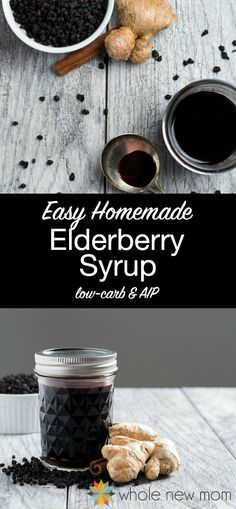 YUMMY & HEALTHY✅ This Easy Homemade Elderberry Syrup is a delicious way to boost your immune system and keep your family healthy, especially during the cold and flu seasons! #coldremedies #healthyrecipes #naturalliving