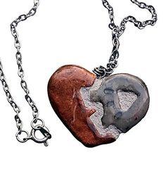 Amazon.com: Steampunk Heart - Interchangeable Jewelry - Gear Heart REVERSIBLE Pendant Necklace: Handmade