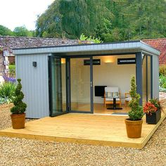 The Malvern Custom Built Studio is a bespoke garden room available from GBC. Backyard Studio, Garden Studio, Gym Shed, Outdoor Paint, Outdoor Decor, Painted Shed, Studio Shed, Backyard Landscaping, Backyard Ideas