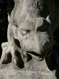 Gargoyle from the dreilandenpunt maze in the Netherlands