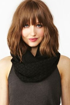 Woven Infinity Scarf - Black