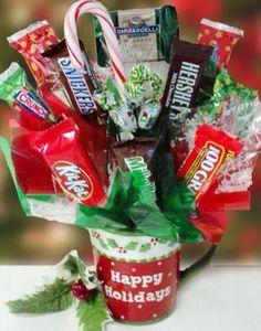 Christmas Candy Bouquet Mug