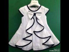 Comfortable new baby frock design idea/ easy stich at home baby frock Baby Girl Frocks, Frocks For Girls, Kids Frocks, Girls Dresses Sewing, Little Dresses, Little Girl Dresses, Vintage Baby Dresses, 50s Dresses, Elegant Dresses