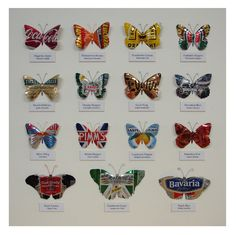 butterflies made from aluminum drink cans