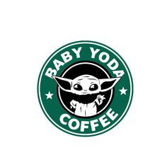 Baby Yoda Coffee SVG Mandalorian Star Wars The Child Disney Starbucks Cricut Silhouette dxf pdf png eps digital cut files clipart Disney Starbucks, Starbucks Logo, Starbucks Coffee, Yoda Gif, Yoda Images, Starbucks Wallpaper, Star Wars Baby, Star Wars Humor, Disney Star Wars