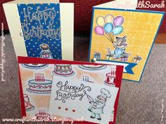 Craft with Sarah Lindsay! Stampin up! Birthday memories suite from the new catalogue