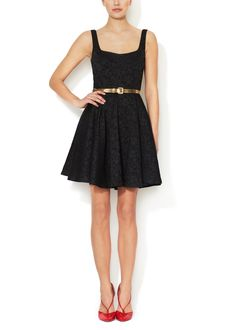 c68f7d587 Jacquard Fit and Flare Dress Special Occasion Dresses, Contemporary Style,  Lbd, Flare Dress