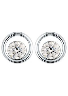 Canadianice 9ct Gold 0 60ct Floating Diamond Earrings Goldsmiths Jewellery Boxdiamond Earringscanadaice