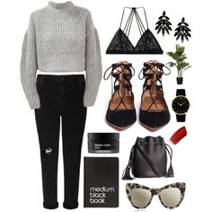 Everyday by lawrence-bethan on Polyvore featuring polyvore, fashion, style, Whistles, Victoria's Secret, Aquazzura, H&M, Larsson & Jennings, Roberto Cavalli, STELLA McCARTNEY, Hourglass Cosmetics, Koh Gen Do and Dinks