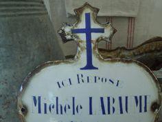 Antique French Porcelain Enamel Memorial Heart by algae808 on Etsy, $80.00