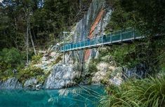 Nestled among mature beech and podocarp forest, these pools of deep, clear water flowing into the Makarora River offer a moment of tranquillity. South New Zealand, Blue Pool, New Zealand Travel, South Island, Parks And Recreation, Pools, National Parks, Places To Visit, Track