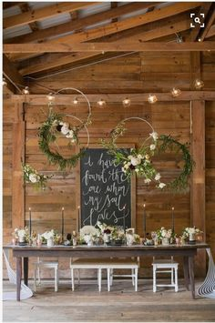 Gorgeous whimsical woodland decor with hula hoops