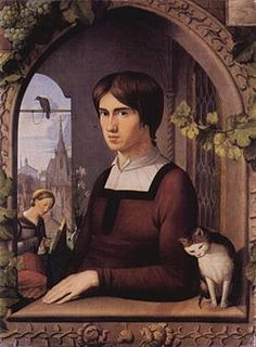 Franz Pforr (5 April 1788 – 16 June 1812) was a painter of the German Nazarene Movement. Portrait by Johann Friedrich Overbeck, 1810. The Nazarene Brotherhood was committed to regenerating German religious art in imitation of the works of Durer, Perugino and Raphael. Overbeck and Pforr went to Rome in 1810 and were soon joined by other artists. One of the group's aims was the revival of fresco.  The Nazarenes were particularly admired by the Pre-Raphaelites.