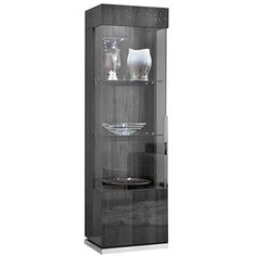 Luxury Square Curio Cabinet Paired With High Gloss Koto Finish Features Gl Shelving And Doors Design Ideas Pinterest Display Cabinets