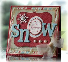 "would be TOTALLY cute with my fiskars winter wonderland stamp set for the ""O"". :)"