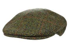 Irish Flat Cap Olive Plaid 100% Wool Hand Crafted A classy olive colored  Irish flat b639ac1e7621