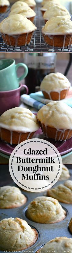 Glazed Buttermilk Doughnut Muffins