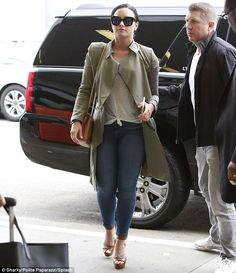 Throw some shade like Demi in Celine sunnies Click 'Visit' to buy now #DailyMail