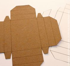 Printable box pattern-then modge podge with pretty paper.