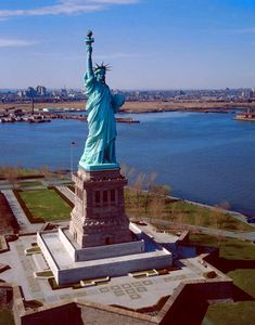 Miss Liberty in all her majestic glory. Believe it or not, in her early years she was actually considered an official light house