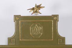 Cama aragonesa Carlos IV en madera pintada y talla dorada, de finales del siglo XVIII