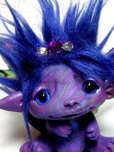"OOAK Butterfly Fairy Baby Dragon Trollfling Troll ""Rylie"" by Amber Matthies"
