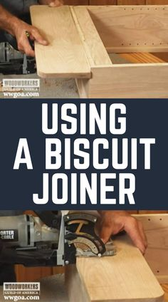 Master woodworker George Vondriska teaches you how to use a biscuit joiner to attach a shelf at 90 degrees on your woodworking projects. Used Woodworking Tools, Woodworking Basics, Wood Tools, Woodworking Videos, Woodworking Crafts, Woodworking Plans, Woodworking Techniques, Biscuit Joiner, Workshop Plans