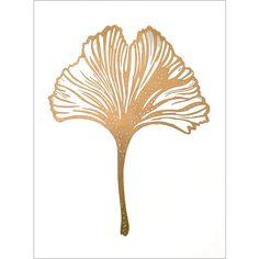 Gingko Leaf Gold / White ( A3 ) • Monika Petersen
