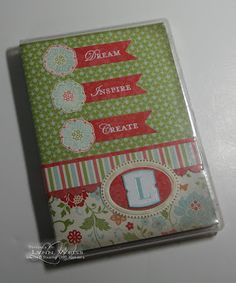 notebook n pen set made with clear mount case (SAB2012 vintage DSP)- great blog with lots of ideas!