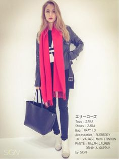BAG:FRAY I.D TOPS:ZARA SHOES:ZARA ACCESSORIES:BURBERRY ZARA BURBERRY fray i.d JK : VINTAGE from LOND...