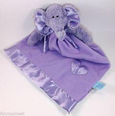Purple Elephant Lovey Security Blanket Baby Boyds Toddler Snuggle Buddy Retired | eBay