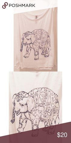 NWOT. Elephant Print Crop Top NWOT. Super cute elephant print crop top. Perfect for summer! LF Tops Crop Tops