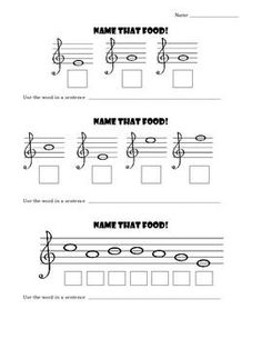 Music Worksheets - Treble Clef Note Names | Treble clef, Clef and ...