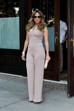 Jlo in mauve - jennifer lopez Nude Jumpsuits, Jumpsuits For Women, J Lo Fashion, Fashion Outfits, Womens Fashion, Fashion Styles, Fashion Ideas, Jennifer Lopez, Classy Outfits