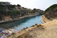 Κέρκυρα Παραλίες, Παραλία Canal d'Amour | travelovergreece Corfu Greece, Greece Travel, River, Vacation, Heart, Pictures, Outdoor, Beautiful, Love