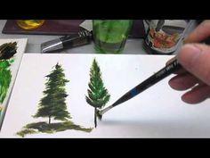 Peindre des sapins partie 1 - YouTube