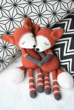 Downloadable pattern written in English using US terminology.  Mystique the Fox is an elegant amigurumi toy. The design itself is simple bringing out the beauty of pure wool. A special characteristics is given by some nice decorative elements, hand stitched face and brushed tail.  Size: about 28 cm (11 inches) Skill level: intermediate (single crochet)  Supplies: The pattern uses 3 mm crochet hook and DK (8 ply) weight wool.  Pattern is very detail and includes lots of pictures. If you have…