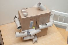 #marble run....this would be cool, but bigger, with a robot head on it :)