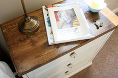 {THE CHARMING NEST}: {New Bedside Tables...they're a RAST hack}