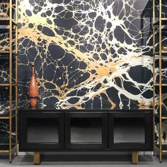 Totally obsessed with Calico wallpaper's Night collection. via The Future Perfect