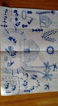 warli Worli Painting, Saree Painting, Kalamkari Painting, Canvas Painting Tutorials, Texture Painting, Fabric Painting, Art Indien, Fabric Paint Designs, Indian Folk Art
