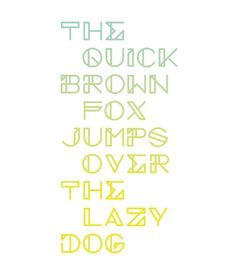 Image result for the quick brown fox jumped over the lazy dog font