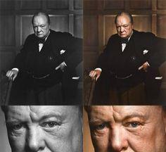 Colorized Churchill