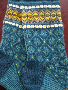 These socks could be modified for mitten patterns, especially the cuff.