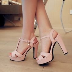 353bef4eea8 Summer Women Sandals Fashion Thick High Heels Party Shoes T-Strap Rome  Style Ladies Beach