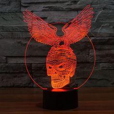 Skull+Eagle+3D+LED+Lamp+by+Ultimate+Lamps+on+POP.COM.AU