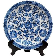 Oriental Furniture Elegant Home Decor Accent, Chinese Export Porcelain Pattern Decorative Plate, Blue and White Floral Blue And White China, Blue China, Delft, Decorative Accessories, Decorative Items, Decorative Accents, Art Du Monde, Oriental Furniture, Red Lantern