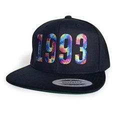 a760cb29e7f Customizable BIRTHDAY Black Snapback cap Black Snapback